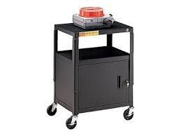 ng CA2642-P5 Basics Adjustable Cabinet Cart - Cart for TV, overhead projector, VCR - plastic, steel - black powder - screen size: 13 inch - 20 inch (Vcr Cart)