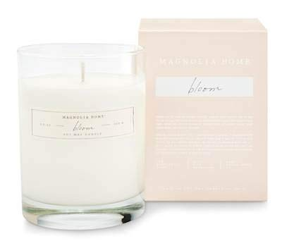 (Bloom Scented 9.2 ounce Soy Wax Boxed Glass Candle by Joanna Gaines - Illume)