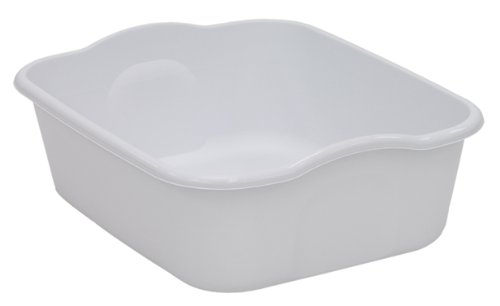 United Solutions BA0040 Eight Quart Dishpan in White-Quality Kitchenware 8 Quart White Dishpan (Best Way To Wash Dishes In Sink)