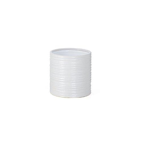 Torre & Tagus 901460 Ripple Ceramic Cylinder Vase, Short, - Cylinder Ceramic