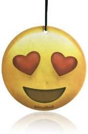 Boostnatics EmojiFresh Heart Eyes Emoji Car Air Freshener - Cherry Scent