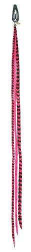 Mia Clip-n-Faux Feathers-Animal Friendly Fake Feathers For The Hair-Looks Just Like The Real Thing! Hot Pink Color-13