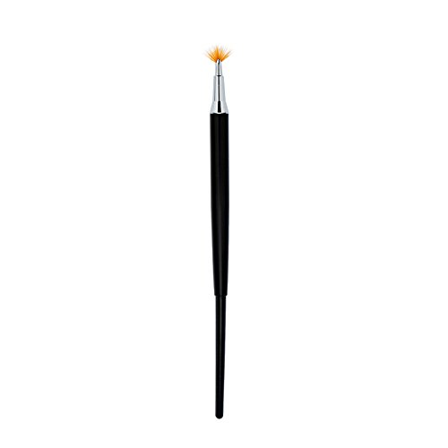 Buildent(TM) Beauty Fan Design Nail Painting Pen Nylon Hair Polish Drawing Nail Art Brush Tool Anti-skid Handle Nail Brush Pen Pink/Black
