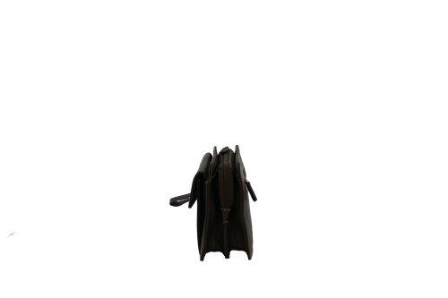 Gérard Henon - Cartera de mano de piel de cerdo para hombre negro - negro