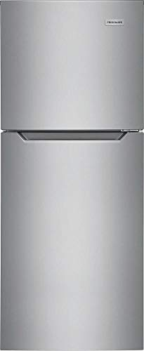 Frigidaire FFET1022UV 24 Inch Freestanding Counter Depth Top Freezer Refrigerator with 10.1 cu. ft. Total Capacity, in Stainless Steel