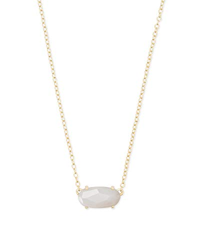 Kendra Scott Ever Pendant Necklace in White Mother-of-Pearl, 14k Gold-Plated