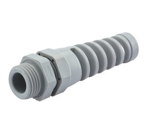 0.12'' - 0.26'' Range PG7 Gray Nylon Flexible/Liquid Tight Cable Strain Relief Fitting, Pack of 10 by Sealcon