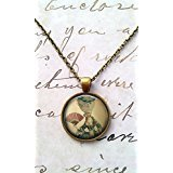 Marie Antoinette Necklace, Vintage Pendant, Antoinette Pendant, Steampunk, Victorian Jewelry, Cameo, with Chain