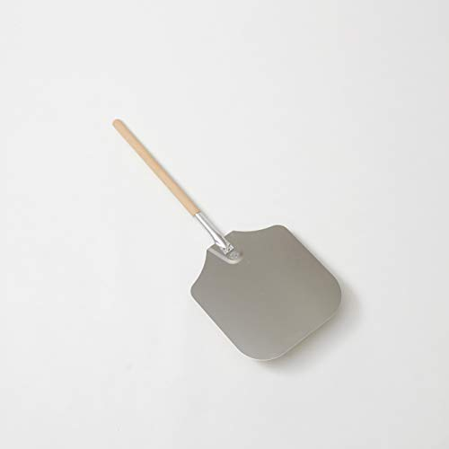 American Metalcraft 3714 37' Aluminum Pizza Peel with 21' Wood Handle, 14' x 16' Large Blade