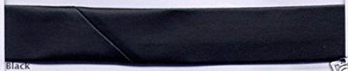 25mm Imitation Leather Bias Binding Tape Black - per metre
