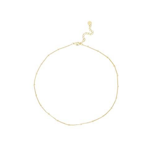 18K Satellite Choker Necklace (Gold-Plated-Brass)