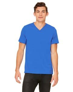 (Bella Canvas Womens 4.2 oz. V-Neck Jersey T-Shirt (3005) -True Royal -2XL)
