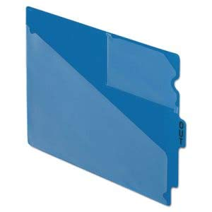 Tops Business Forms Pendaflex Out Guides, Center Inch Out Inch Tab, Vinyl, Letter, Blue, 50/Box (1 Box) by Pendaflex