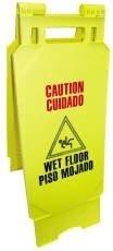 Renown 880547 Wet Floor Sign, English/Spanish, Yellow (Pack of 6) by Renown (Image #1)