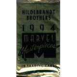 #10: 6 Pack Lot 1994 Fleer Marvel Masterpieces Factory Sealed Packs From Hobby Box - Each Pack Contains 10 Cards