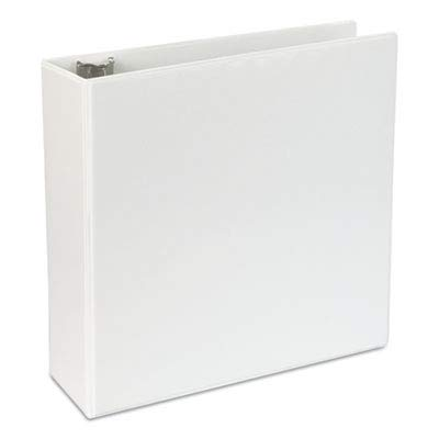 - Universal D-Ring Economy Vinyl View Binder, White (UNV20994PP)