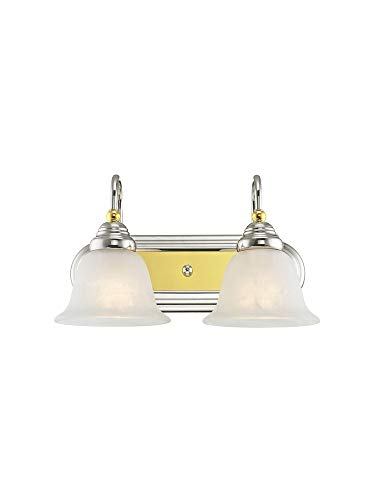 Livex Lighting 1002-52 Belmont 2-Light Bath Light, Chrome and Polished - Light 2 Belmont