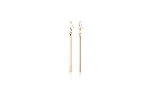 Women's Dangle Earrings Lady Ear Hooked Earring Simple Rectangular Little Gold Strips Earrings Jewelry