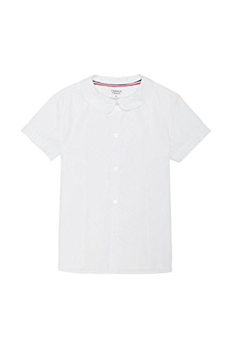 French Toast Girls Plus Size' Short Sleeve Modern Peter Pan Collar Blouse, White, 20.5 by French Toast