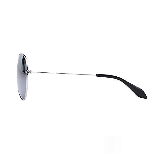 Femeninos de KHIAD Cara Gafas Sol Modelos Redondo de Gafas Sol Gafas polarizadas Espejo Rana 4npFqYIp