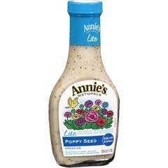 (Annie's Homegrown - Lite Poppy Seed Dressing (6-8 oz bottles) - Less Fat and Fewer Calories)