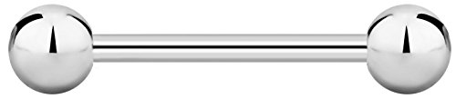 (12g 19mm Surgical Steel Straight Barbell Body Piercing Jewelry, 6mm)