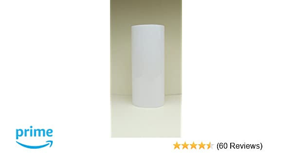 """Lot of Two 4/"""" White Plastic Medium Base Candle Covers Sleeves 1-1//4/"""" OD"""