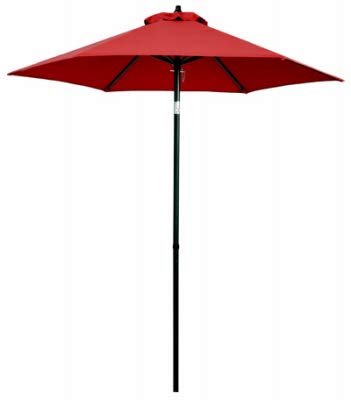 - March Products ECO706IT-P81 Patio Market Umbrella, Red Fabric, 7-Ft. - Quantity 1