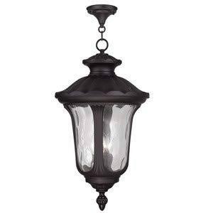 (Livex Lighting 7865-07 Oxford 3 Light Outdoor Hanging Lantern, Bronze)