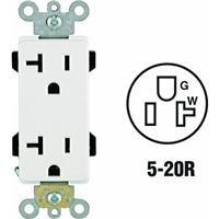 Leviton R42-16352-W Decora Plus Grounded Duplex (20r Duplex Outlets)