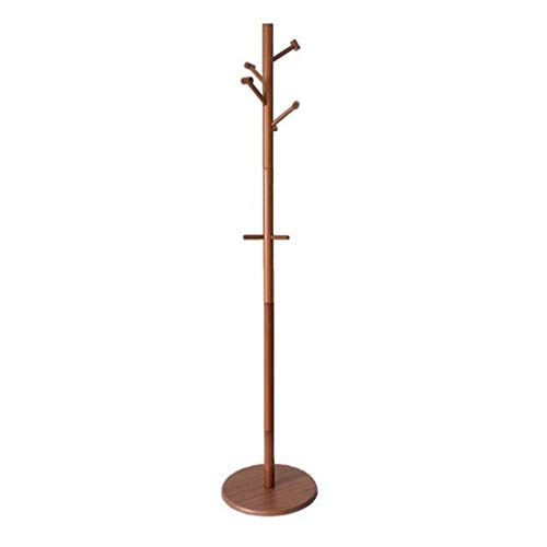 Standing Pine Wood Tree-Shaped Coat Rack, Clothes Stand 8 Hooks Hats Scarves Handbags 68.915.015.0in