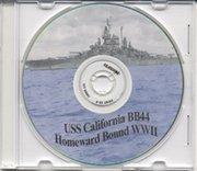 USS California BB 44 WWII Cruise Book - Homeward Bound