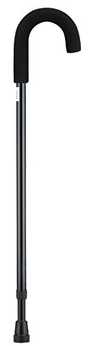 NOVA Curved Handle Cane, Black