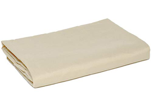 American Pillowcase Queen Size Flat Sheet Only - 300 Thread Count 100% Long Staple Cotton - Pieces Sold Separately for Set Guarantee (Ivory)