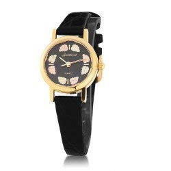 Landstroms Sterling Silver Ladies Watch with Gold Leaves - MRL09250 ()