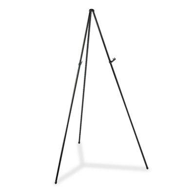 Quartet - Heavy-Duty Adjustable Instant Easel Stand 15'' To 63'' High Steel Black ''Product Category: Presentation/Display & Scheduling Boards/Easel Stands''