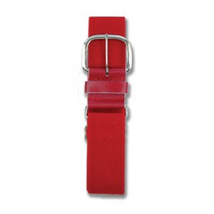 (Champro Leather Baseball Belt, Cardinal, 1-1/4