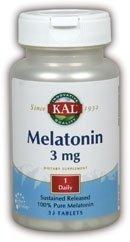 3 Mg 30 Tabs (Melatonin 3mg Sustained Release Kal 30 Tabs by Kal)