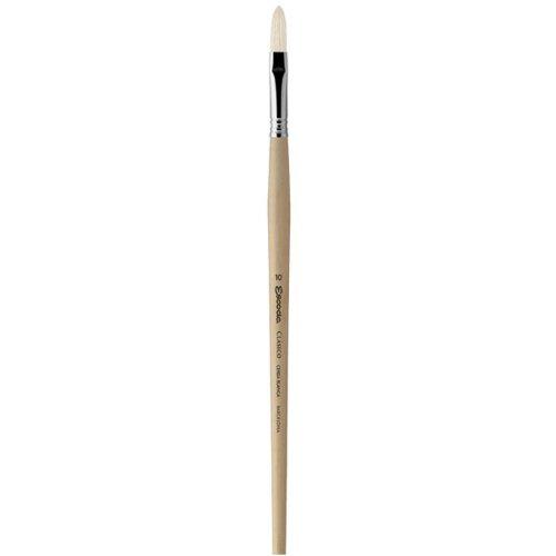 Escoda Clasico 5030 Oil & Acrylic Chungking White Bristle Paint Brush Long Filbert; Size 10 Global Art Materials Inc.