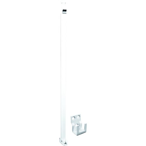 Defender Security U 9921 Security Bar For Sliding Patio Doors, Adjustable, Aluminum Construction With White Finish, Pack of 1 by Prime-Line Products