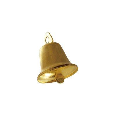 Lead Free Christmas Shining Liberty Bells Gold 22mm