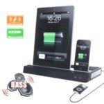 - Multi-Function Docking Station Charger Speaker for iPhone 3G / 4 / 4S / iPod / iPad 2
