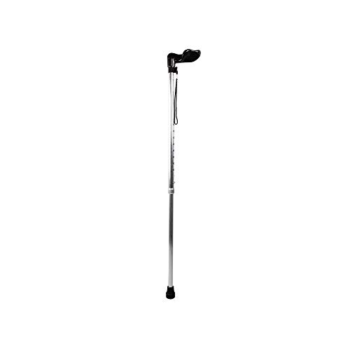 Aluminium Walking Pole - HYRL Adjustable Folding Cane Walking Stick, Aluminum Alloy Telescopic Lightweight Anti-Skid Walking Cane Stick Trekking Pole Hiking Stick,Silver
