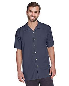 Harriton Men's Bahama Cord Camp Shirt - X-Large - Navy