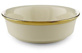 Fruit Ivory Bowl (Lenox Eternal Gold Banded Ivory China Fruit Bowl)