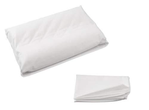 Zisa Dreams Premium Collection 100% Soft Cotton Contour Neck Memory Foam Pillowcase w/Envelope Style Closure - White (Large)