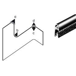 Edge trim PVC/EPDM application range 1.0 - 4.0 mm total height 21mm total width 10.4mm
