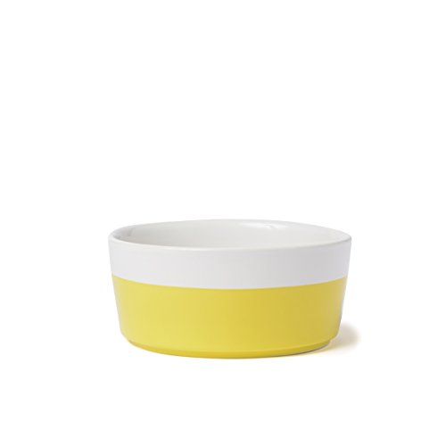 (Waggo Dipper Bowl - Hello Yellow - Large - 3.25 x 8.5 inches)