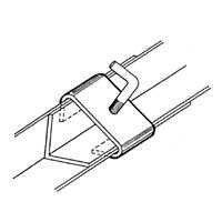 Bed Frame Rail Clamp (Set of 2) Frame Width: 1.25