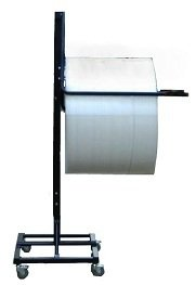 36'' Telescoping Single Arm Bubble Wrap & Foam Roll Floor Unit Dispenser w/ Casters & Tear Tag by FastPack Packaging